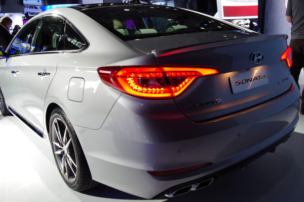 The 2015 Hyundai Sonata gets a refreshed front and rear.