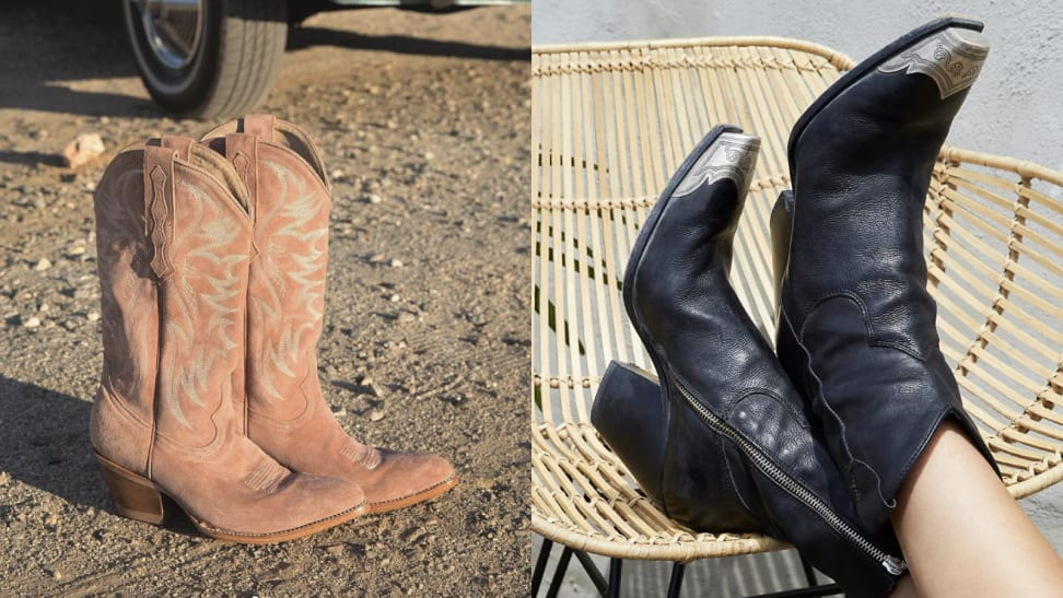 Idyllwind cowboy boots and Free People Western booties