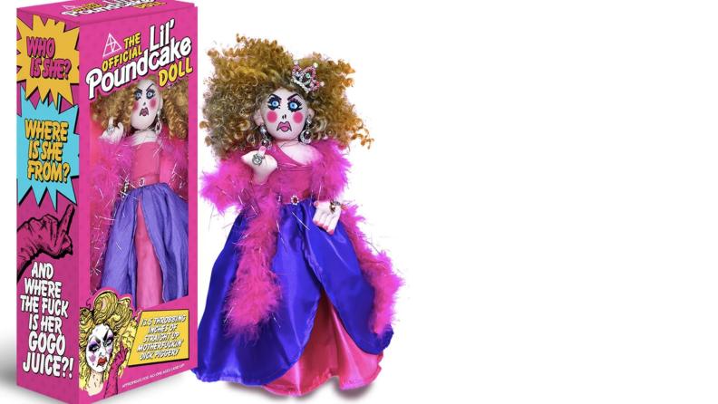 A product still of Alaska Thunderfuck's Lil' Poundcake doll.