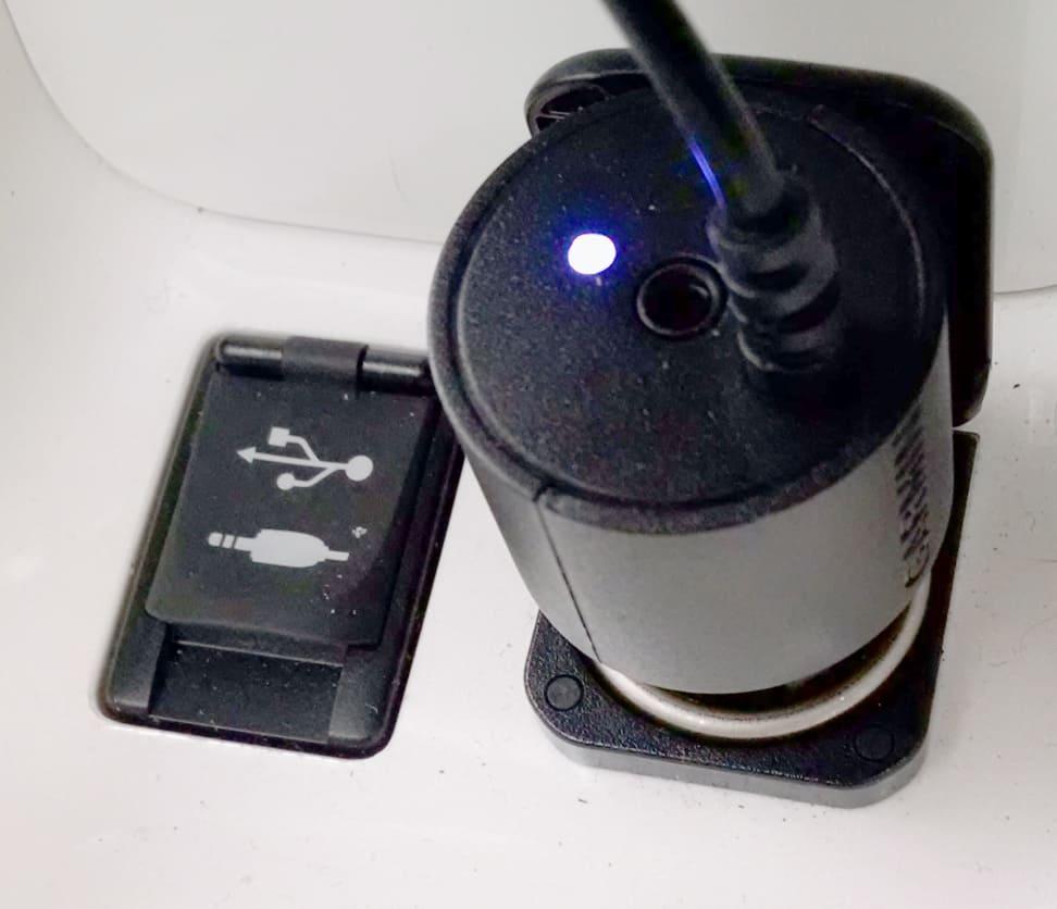Garmin Speak plugged in