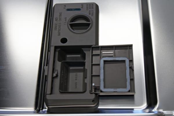 KitchenAid KDTE404DSS rinse aid and detergent dispenser