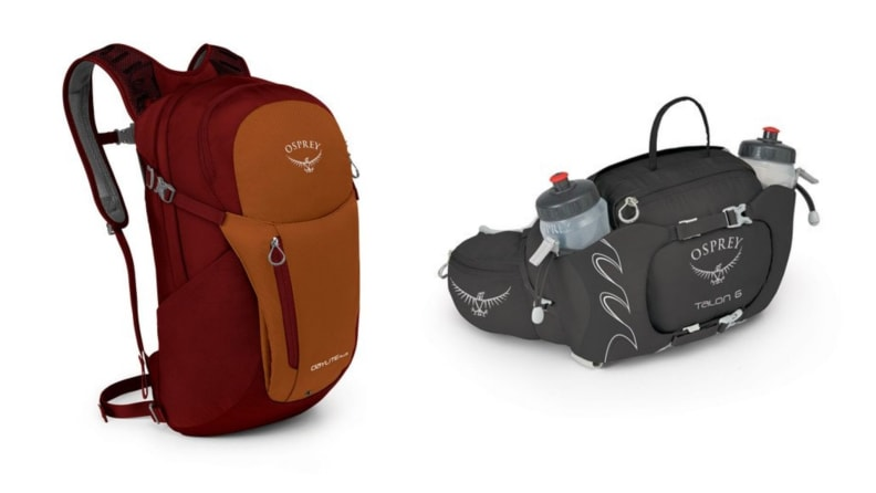 Osprey waist pack and Daylite pack
