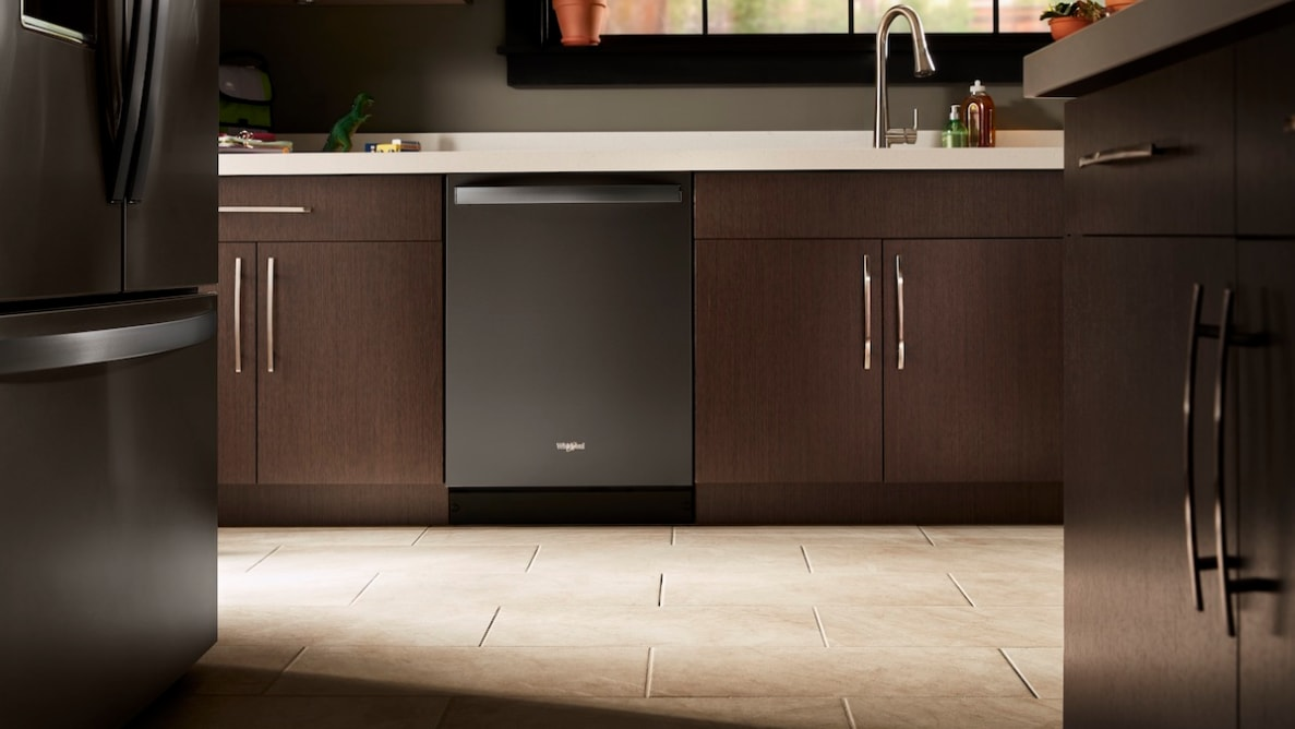 Attractive black stainless dishwasher is moderately priced