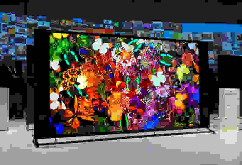 The Sony XBR-75X940C is one of a slew of 4K TVs at CES 2015 showing off expanded color gamuts thanks to quantum dot tech.