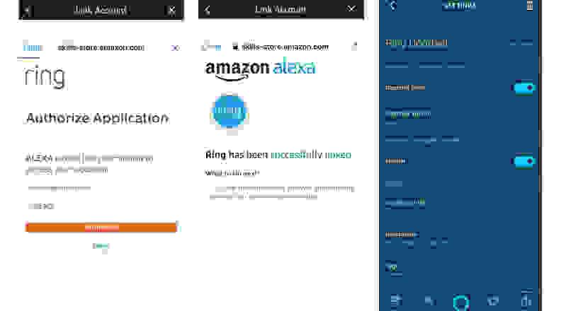 Connecting Ring Doorbell with Amazon Alexa App