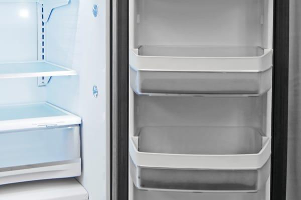 The GE Profile PFE28RSHSS's right fridge door has plenty of gallon-sized storage.