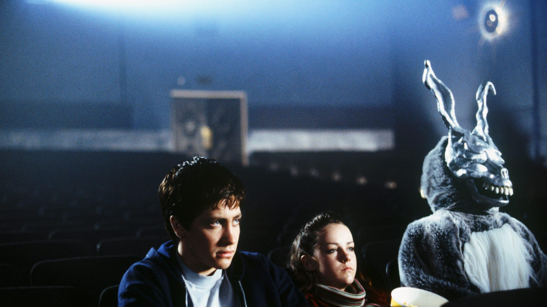 Jake Gyllenhaal is tormented by Frank the Rabbit in 'Donnie Darko.'