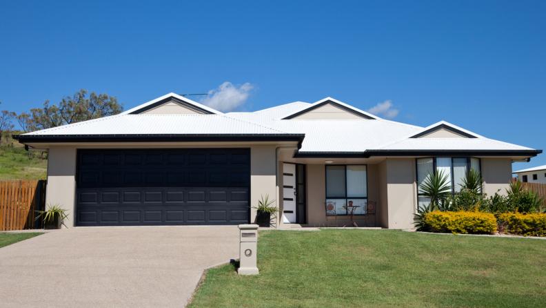 A single-story modern suburban home.
