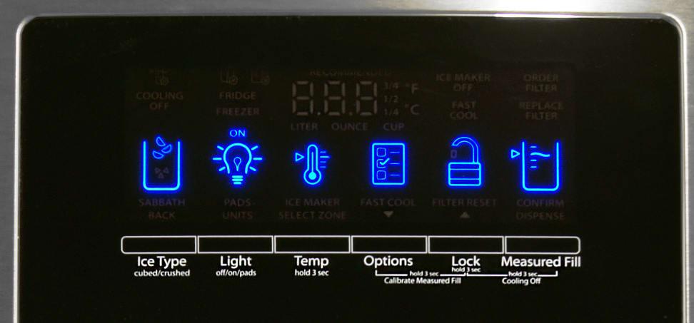 Whirlpool WRX735SDBM Controls