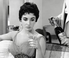 Elizabeth Taylor Champagne coupe