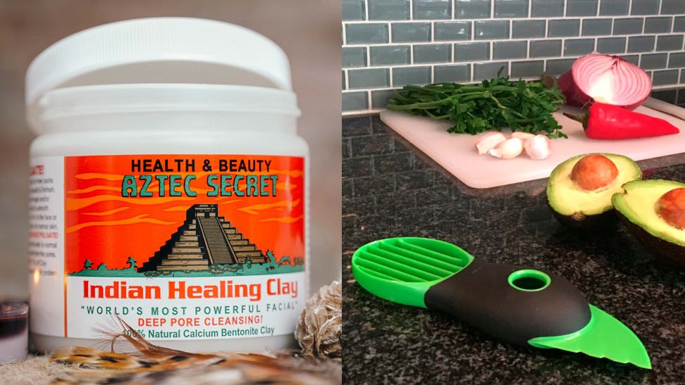 Aztec Secret Indian Healing Clay and OXO Good Grips Avocado Slicer