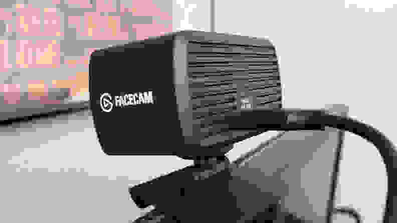 A back view of a webcam