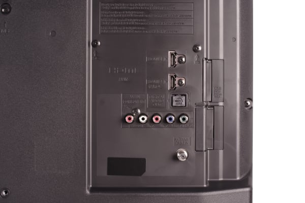 Ports on the back of the Panasonic TC32A400U