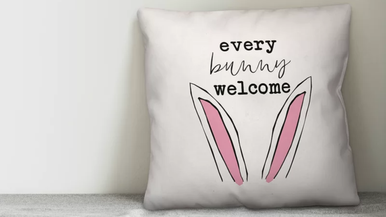 Every bunny welcome pillow