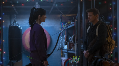 Hailee Steinfeld's Kate Bishop teams up with Jeremy Renner's Hawkeye/ Clint Barton in this new series