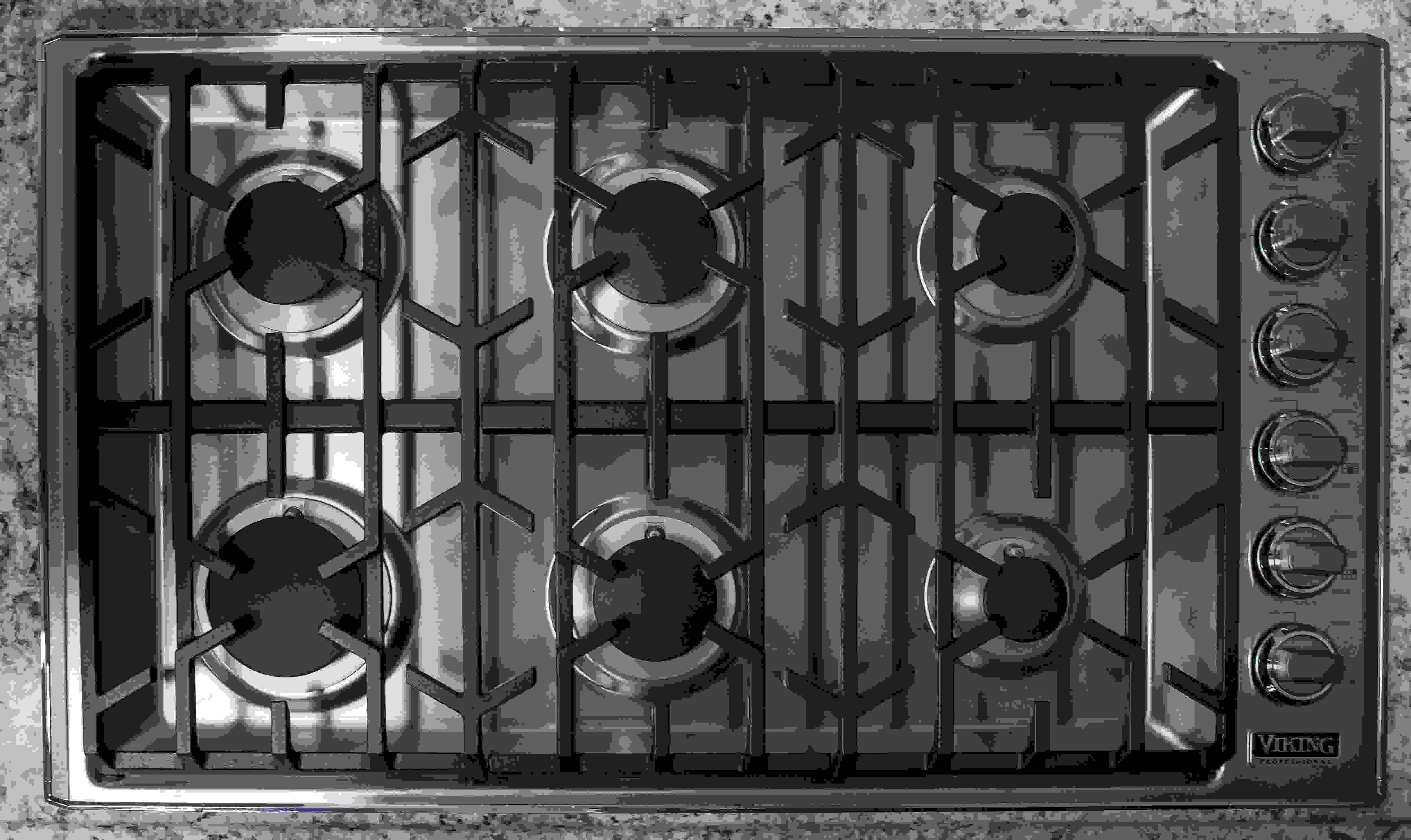 cooktop with six burners