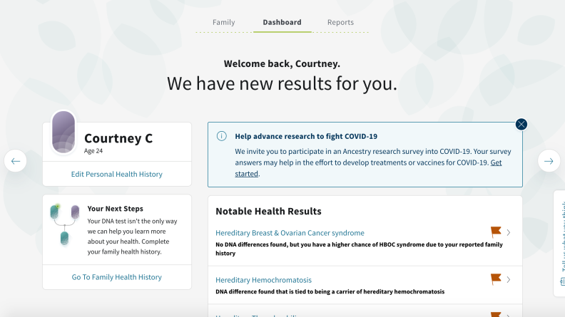 AncestryHealth Homepage