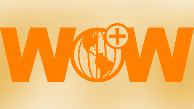 The Wow Presents Plus logo against a yellow backdrop.