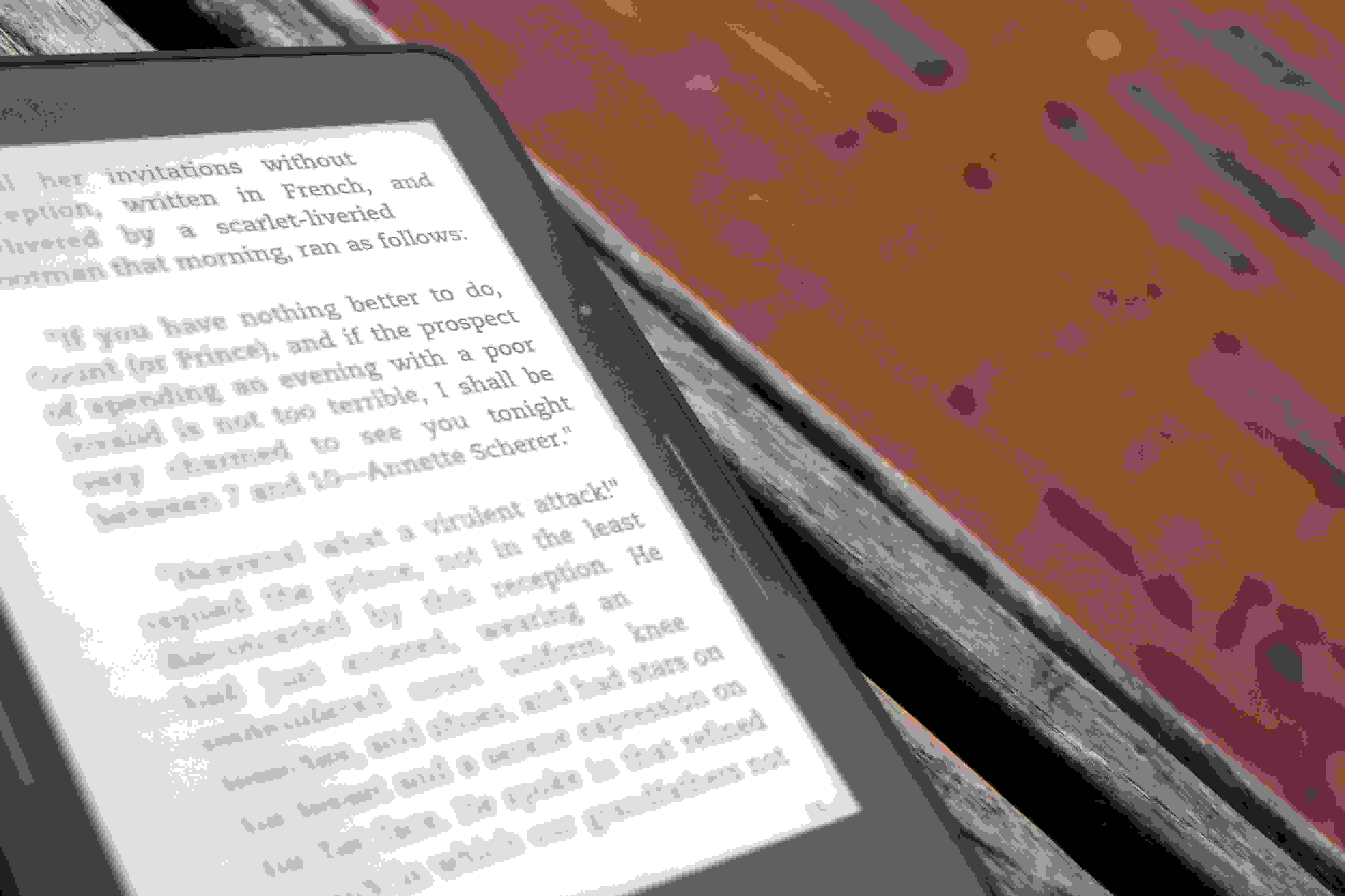 A photo of the Amazon Kindle Voyage's page turn buttons.