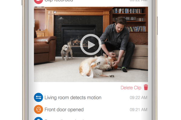 The Smart Home Monitor screen