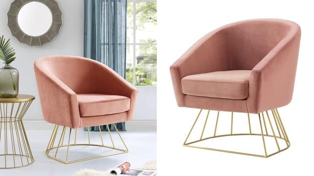 Alice Velvet Barrel Accent Chair