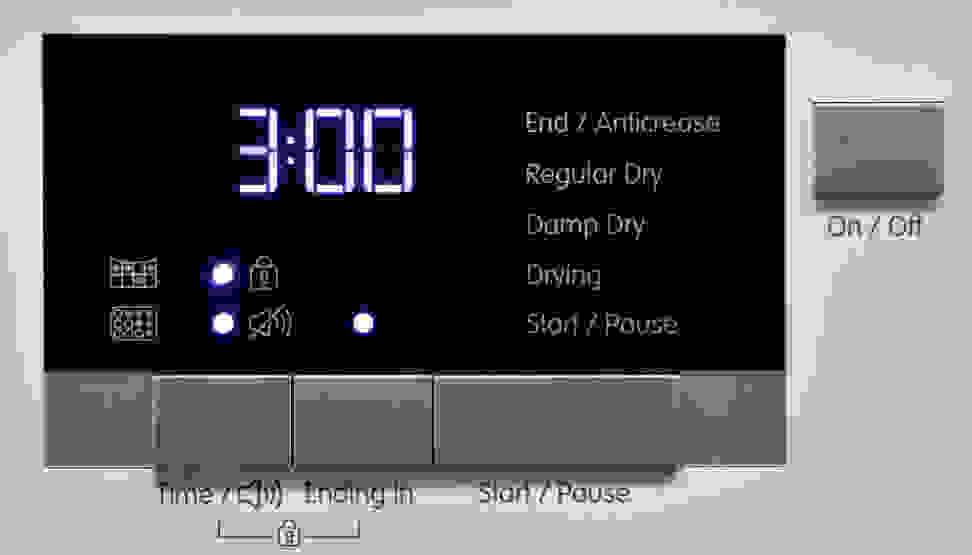 Blomberg DHP24412W Controls