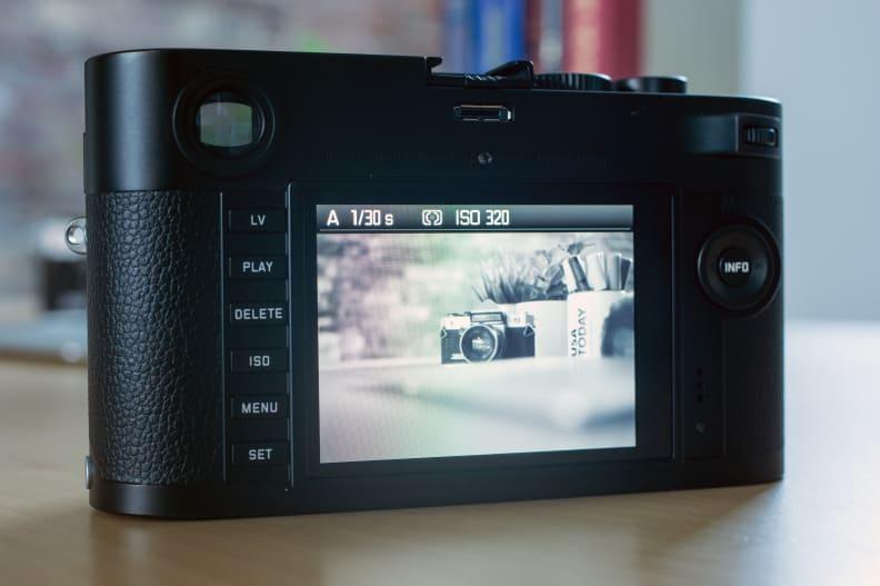 Leica M Monochrom Rear LCD