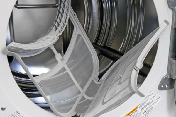 Taking its cue from compact, European models, this dryer has a lint trap that flips open.