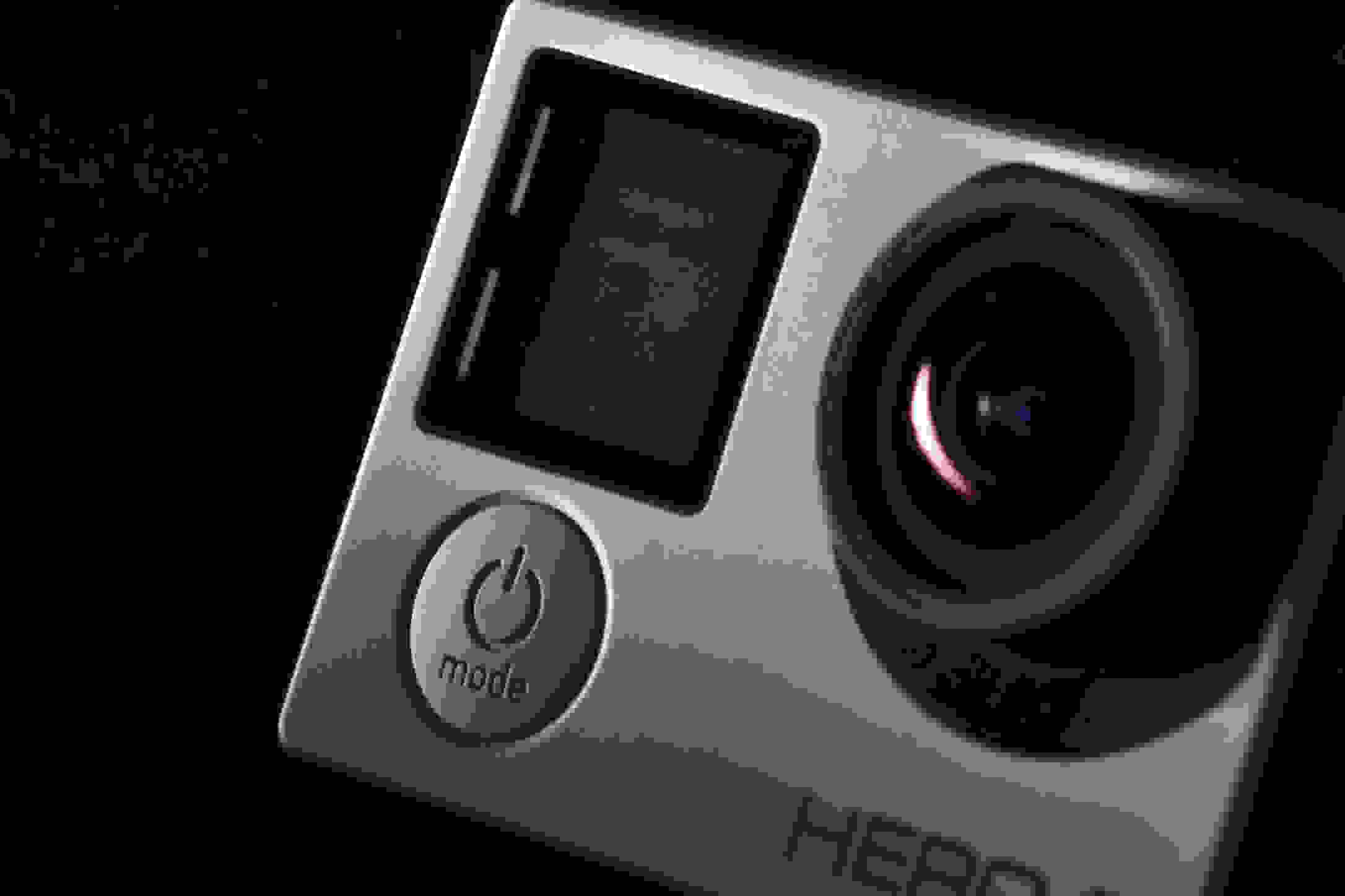 A photograph of the GoPro Hero 4 Silver's power button.