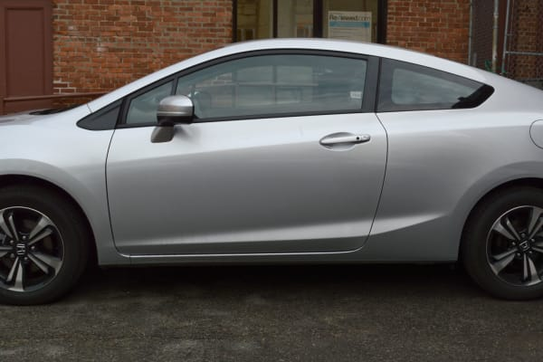Two doors = more sportiness for the 2014 Honda Civic.