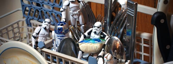 Stormtrooper dishwasher