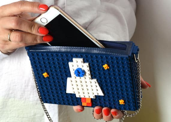 These handbags are made entirely out of toy bricks.
