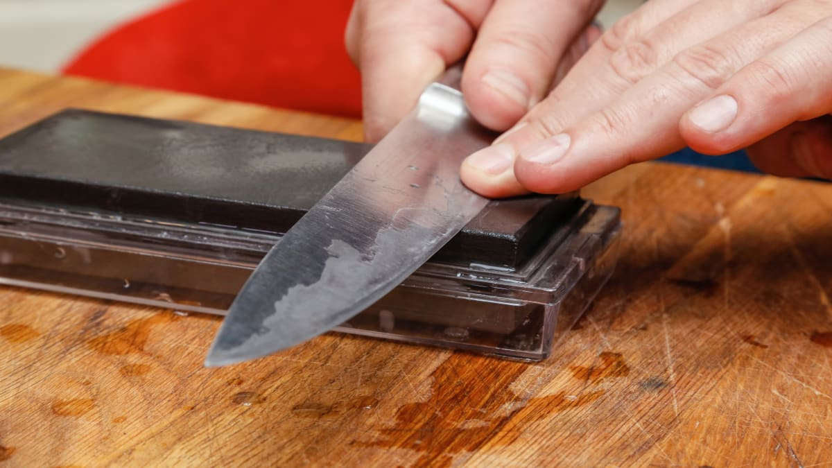 Here's how to sharpen a knife properly with a whetstone