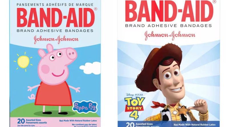 Band-Aids with Peppa Pig and Toy Story