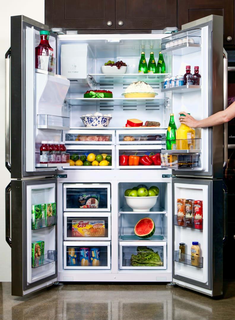 The Distinctive 36-inch Free Standing Four Door French Door Refrigerator Fridge