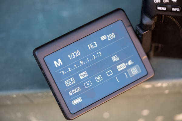 The full-swivel screen is perfect for shooting unique angles.