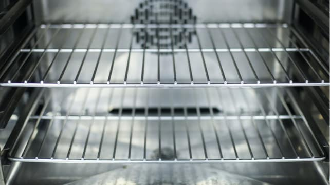 How to preheat your oven - rack