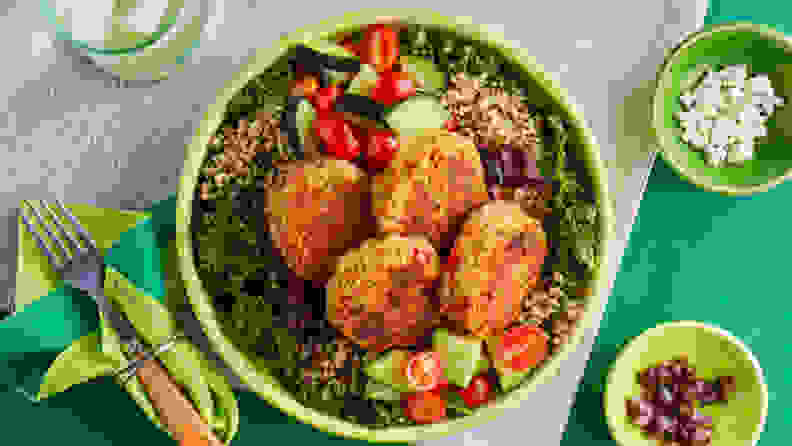 Green chef falafel bowl