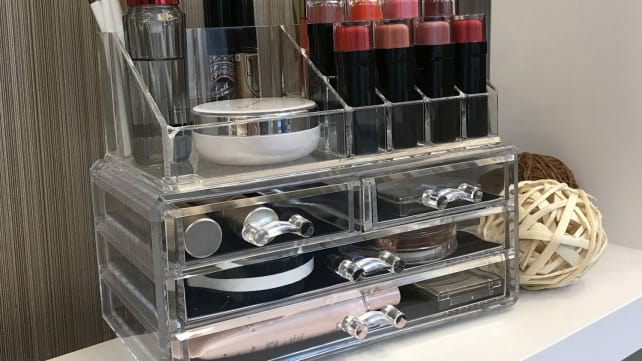 Ikee Design Acrylic Jewelry & Cosmetic Storage Display Boxes