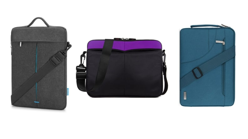 three laptop sleeves