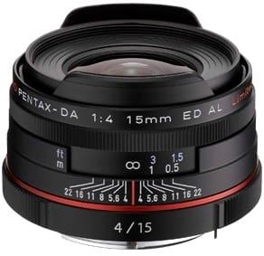 Product Image - Pentax HD Pentax DA 15mm f/4 ED AL Limited