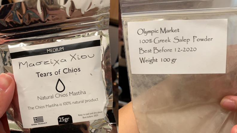 Mastic resins and salep from Greece
