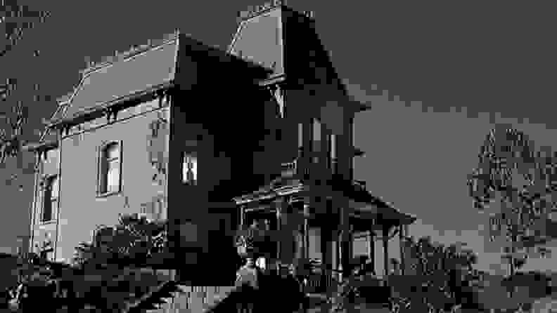 A house on a hill—the house from the 1960 film,