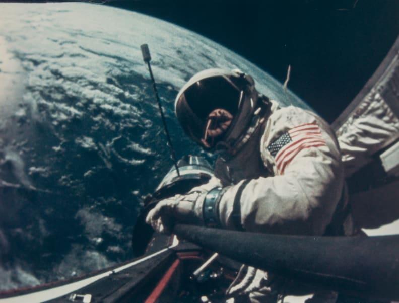 Buzz Aldrin Space Walk