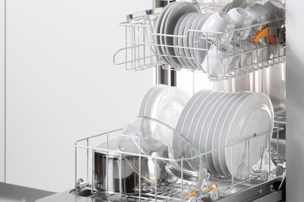 The interior of a 24-inch Futura Dimension Slimline dishwasher.
