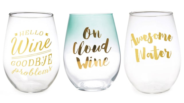 Slant Collections Stemless Wine Glasses
