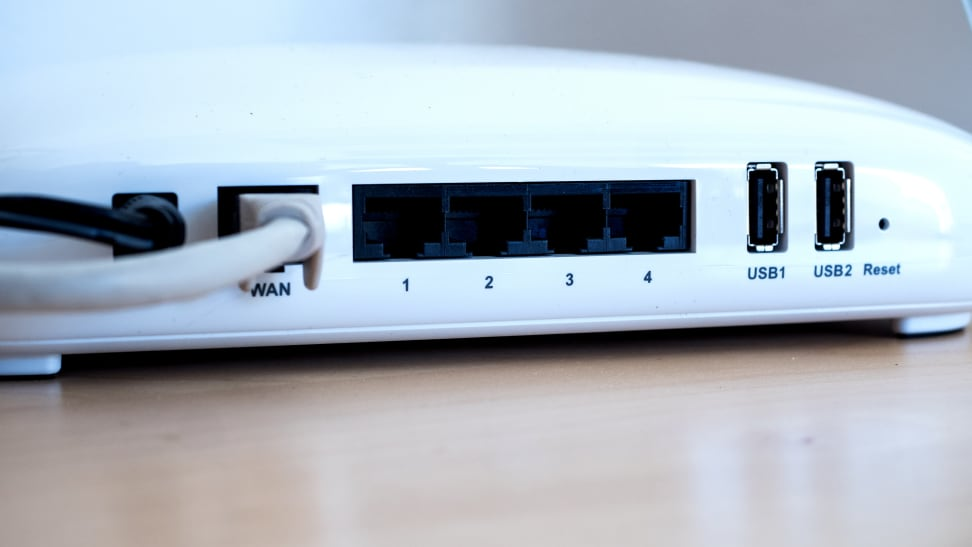 Portal router input ports on back