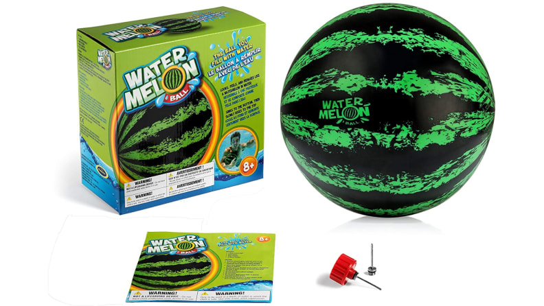 Watermelon Ball for pool on white background