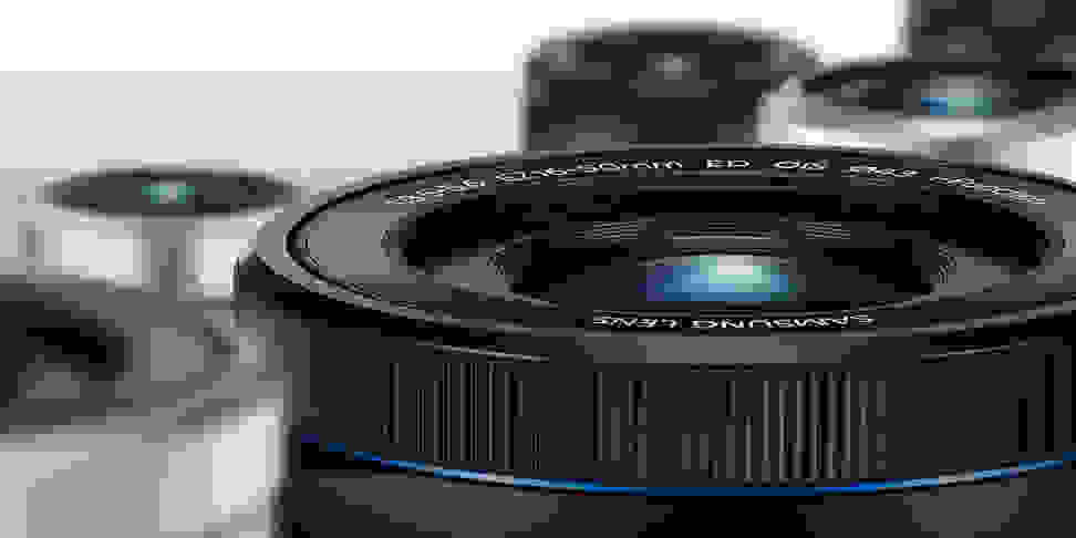 A variety of Samsung NX-mount lenses