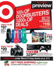 Target's 2014 Black Friday Circular